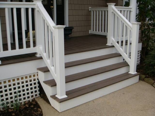 Metal porch railings aluminum porch railing in michigan for Fypon railing