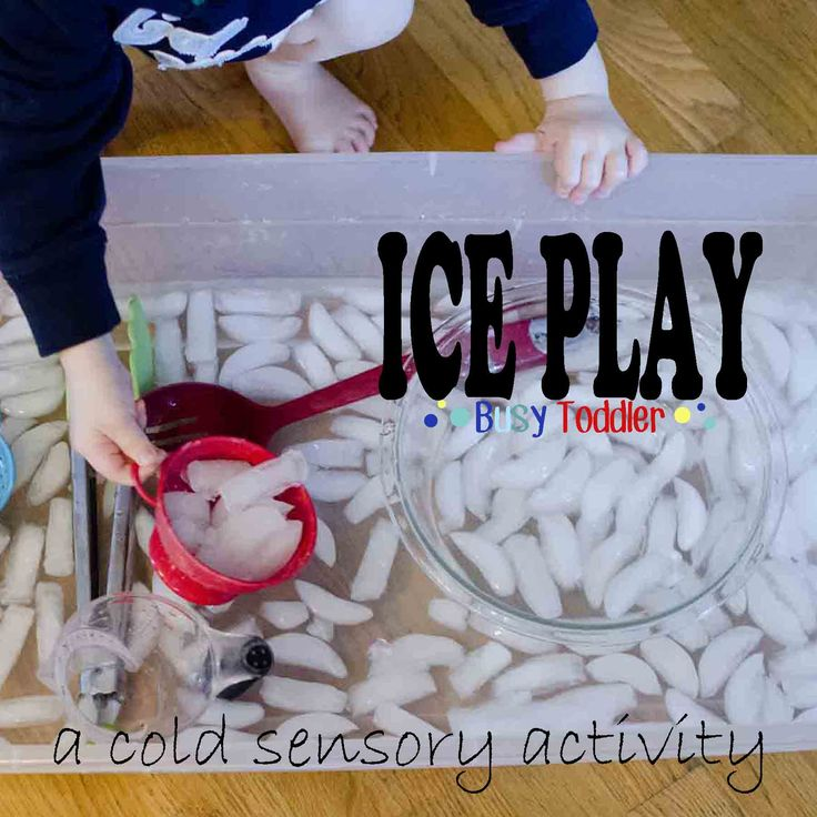 Try a different type of sensory with ice!  #helpmegrowutah For more information on child development, visit: helpmegrowutah.org