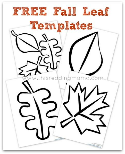 FREE Fall Leaf Templates | This Reading Mama