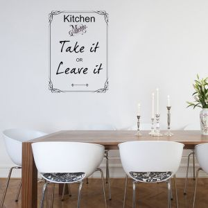 Wonderful Fun Wall Decals | Funny Kitchen Menu ~ Wall Sticker / Decals Part 29