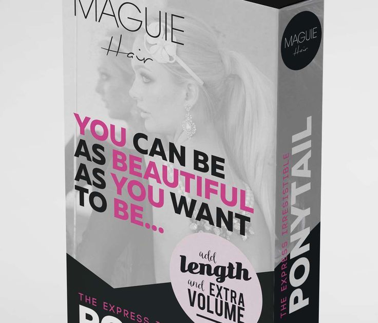 #HairExtensions #PackagingDesign for Maguie Hair from www.darrenmcchrystal.com #Branding #Hair #Beauty