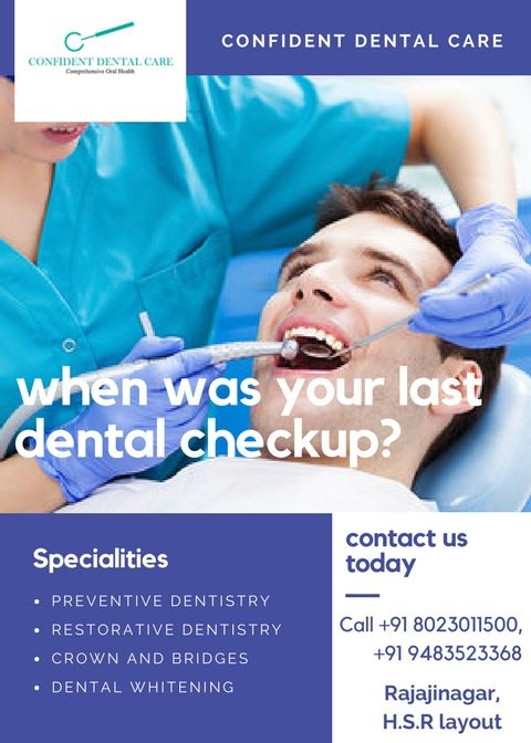 Facing any Dental Problem?? Need a solution?  Call at +91 8023011500 +91 9483523368. Visit: http://confidentdentalcare.in/ #Dentalclinic #Dentalclinics #dentist #toothcare #confidentdentalcare #bangaloredentist