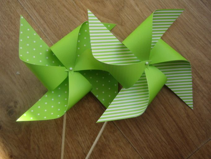 Papírový větrník 3