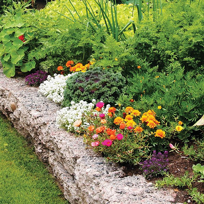 Make a retaining wall like the one here with recycled concrete. Sort the pieces by size, using the largest ones for the lower layers. Pick pieces with similar thicknesses for each layer and turn them rough side up on the top row to create the look of rustic stone.Gardens Ideas, Recycle Concrete, Outdoor, Flower Gardens Landscapes, Concrete Piece, Gardens Wall, Yards Gardens, Concrete Retaining Wall, Reuse Concrete