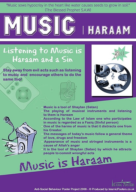 MUSIC HARAAM--classical, spoken word, and songs of worship are my exceptions...I still struggle to give up on Musicals, Macklemore, Disney, and Taylor Swift, but if they continue to bring me closer to understanding the world around me and help me be happier... therefore this things improve my salat, this is ok in my eyes. Islam is in the intention and in our hearts. Maybe one day I'll be music free until then the fiqh of my chill is between Allah swt and I.
