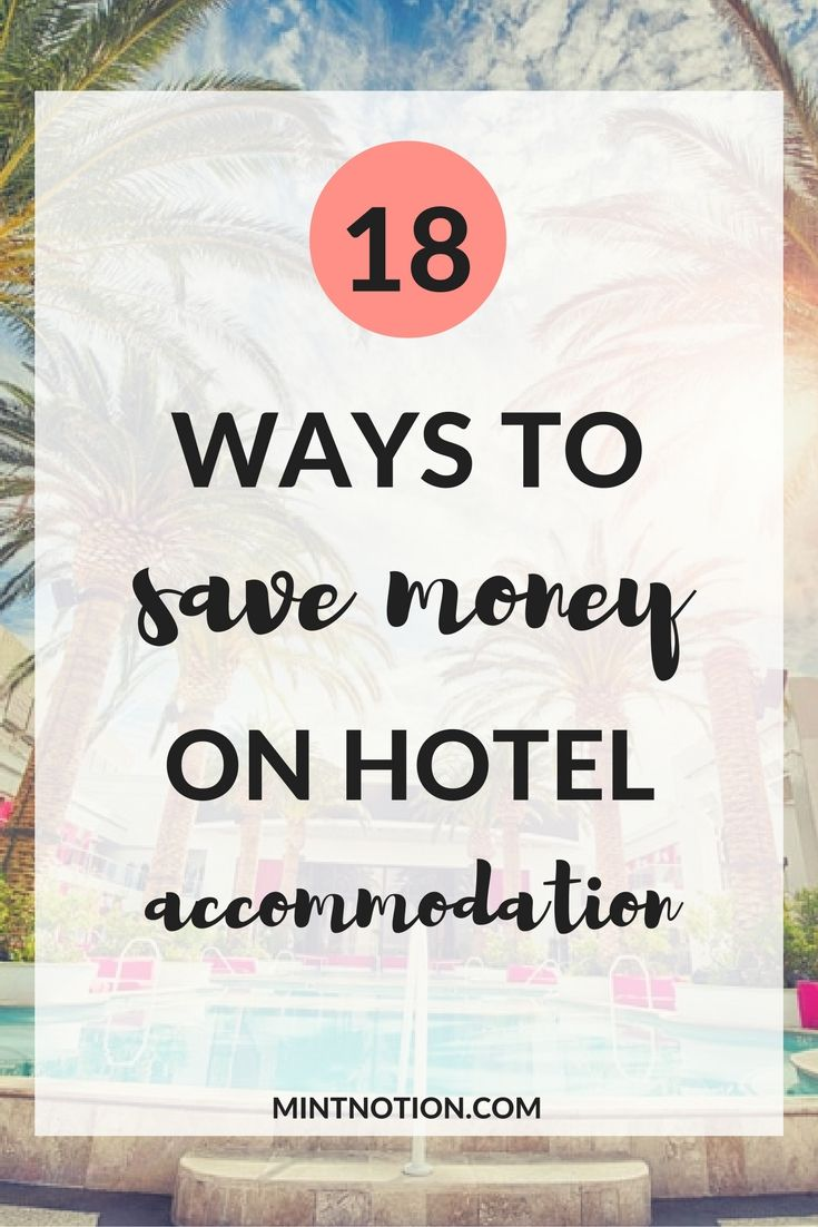 Save money on hotels so you can go on more vacations. Hotel accommodations are often the biggest fixed travel expense, along with flights. Paying too much for your hotel accommodation is an easy way to eat up your travel budget. Click through to find out 18 ways to afford travel and save money on hotels.