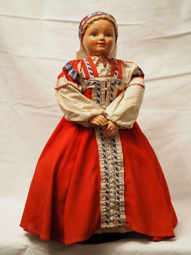 русская антикварная кукла Чайница. Композит