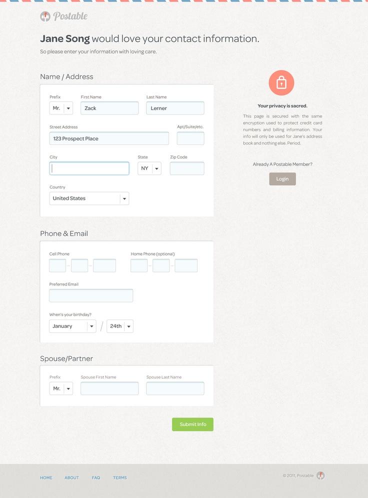 13 best UI Patterns: Forms images on Pinterest | Ui patterns, Form ...