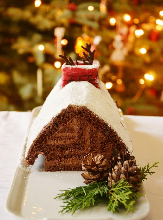 Candy's: Karácsonyi fatörzs-torta (a.k.a. téli házikó torta műelemzés)