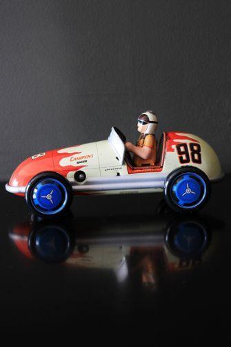 Metal Wind Up Toys - Champion Racing Car