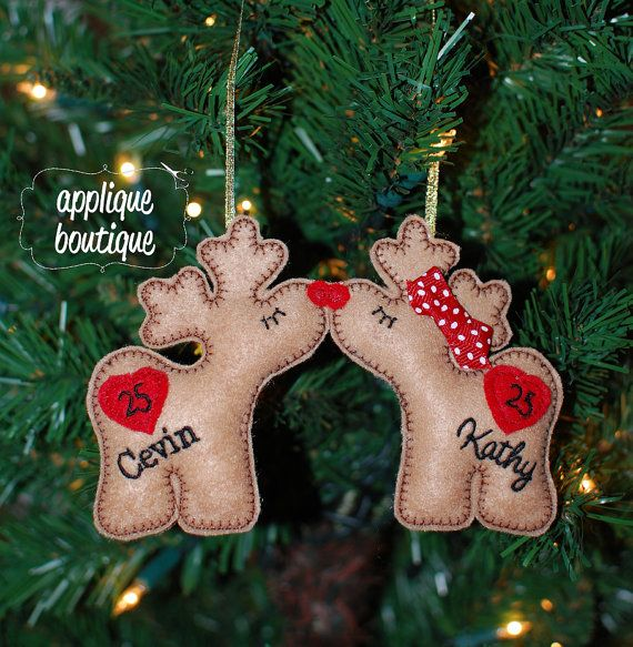 INSTANT DOWNLOAD, Machine Embroidery Design, In The Hoop, Reindeer Love Christmas Ornament with Instructional PDF on Etsy, $6.00