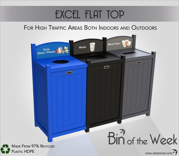 Sturdy Container Built to Withstand Heavy Use in High Traffic Areas; Excel Flat Top is Bin of the Week.