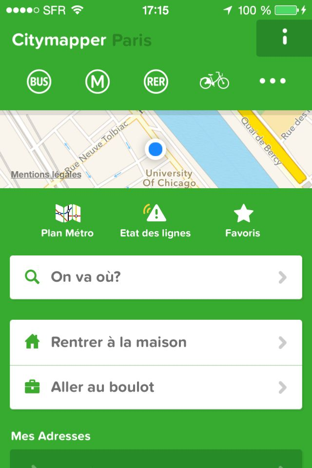 City Mapper #iPhone #map
