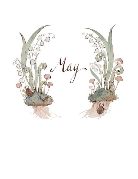 May Wreath 8.5x11 by KelseyGarrityRiley on Etsy, $20.00