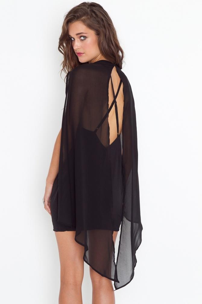 Black Cape Dress: Picture, Cape Dress, Inspiration, Rush Cape, Style, Black Cape, Capes, Clothes Dresses, Beautiful Dresses