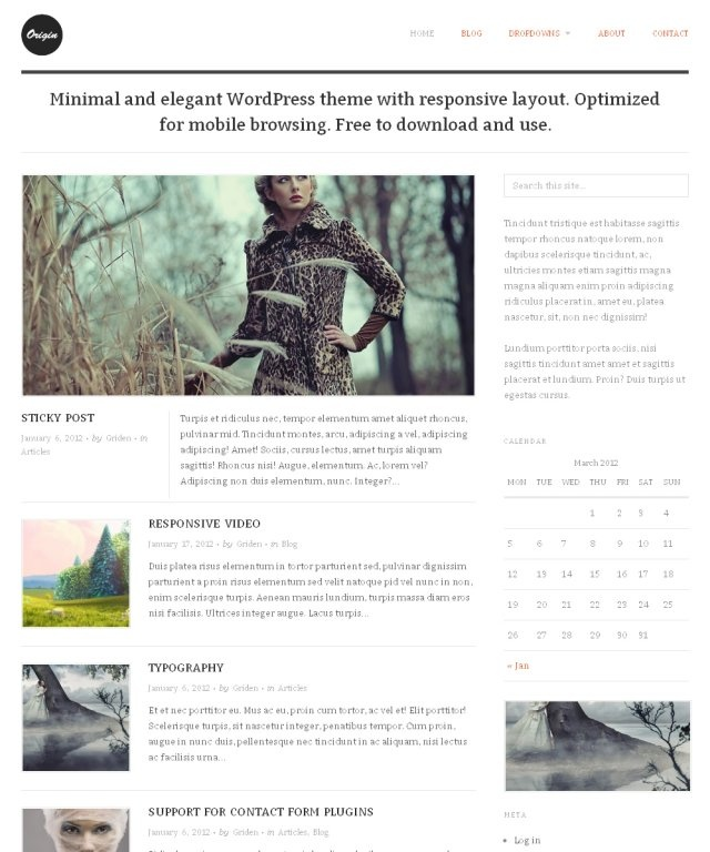 ChosenThemes Origin Free WordPress Theme Free WordPress Them