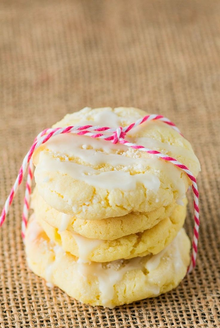 Glazed Lemon Sugar Cookies ~ I just made the lemon cookies from scratch. Oh my gosh are they yummy.