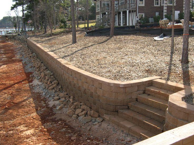 Granite Block Seawall : Ideas about backyard retaining walls on pinterest