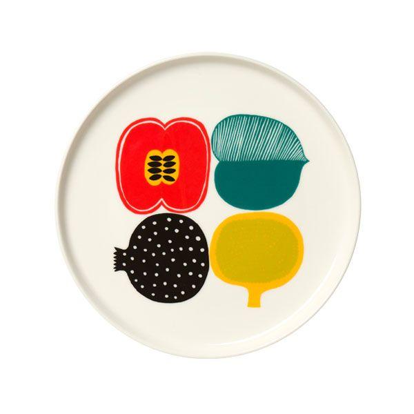 Kompotti plate by Marimekko