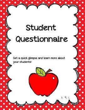 Student Questionnaire {Freebie}