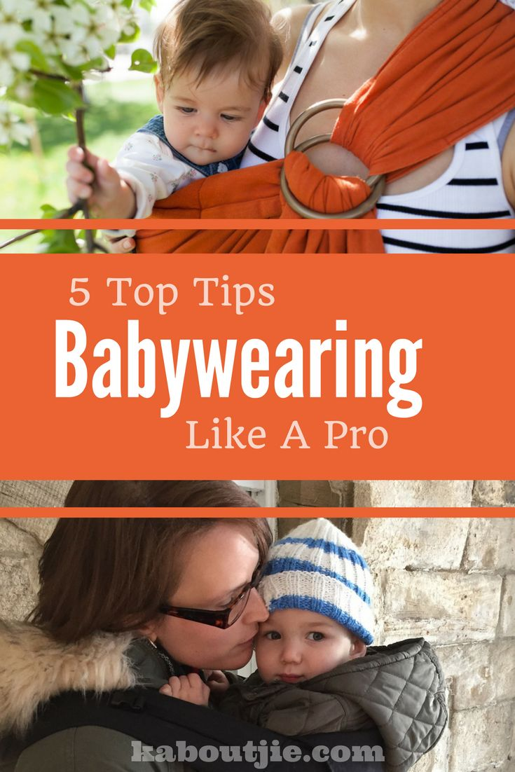 Babywearing makes moms life easier, promotes bonding, aids breastfeeding and lets mom have some hands free time!   Here are some top tips for babywearing like  a pro!  #babywearing #babysling #babycarrier #bonding #breastfeeding #parenting #handsfreemom