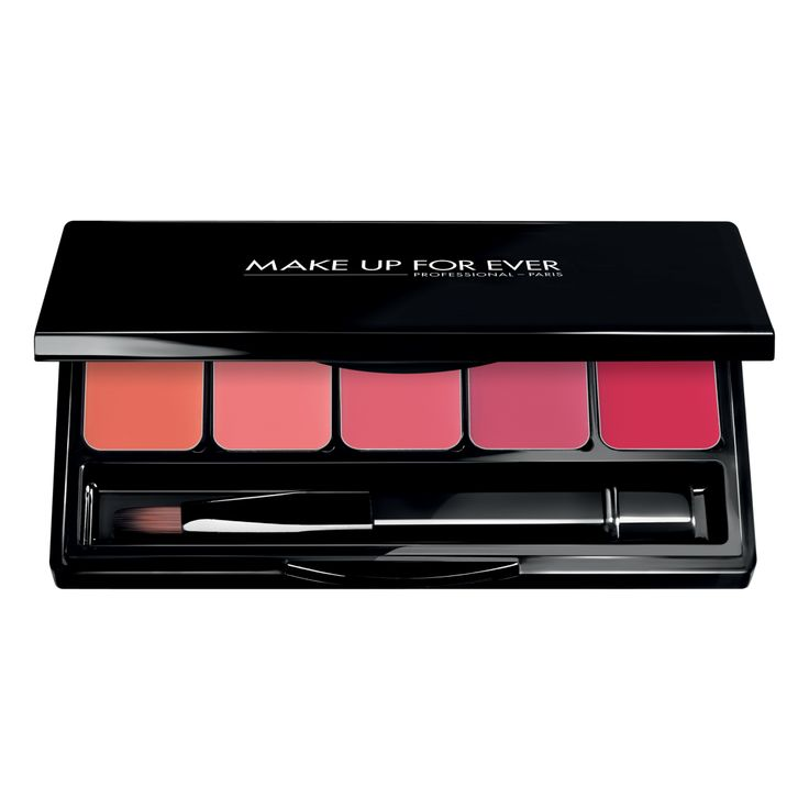Rouge Artist Lip Palette 01 Warm Pink [39 Satin Orange Coral, N21 Pastel Pink, 38 Satin Coral, N34 Candy Pink, 37 Satin Bright Pink]