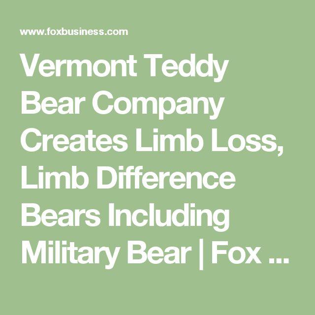 Vermont Teddy Bear Company Creates Limb Loss, Limb Difference Bears Including Military Bear | Fox Business
