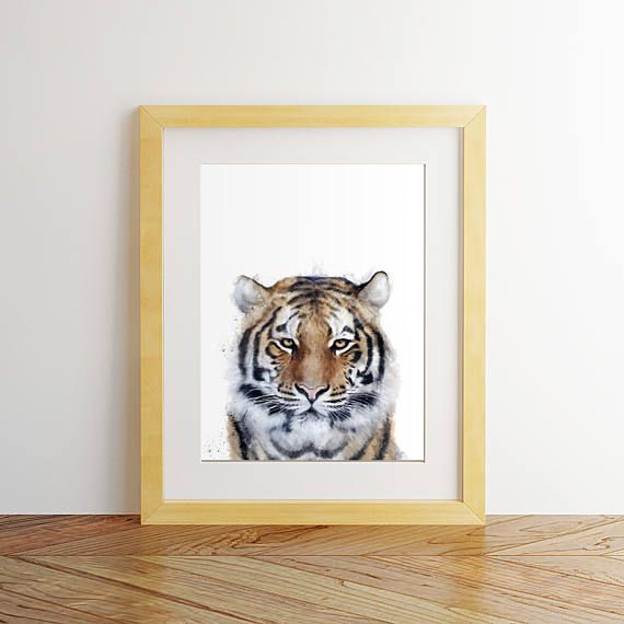 Tiger print Tiger wall art Tiger poster Tiger painting