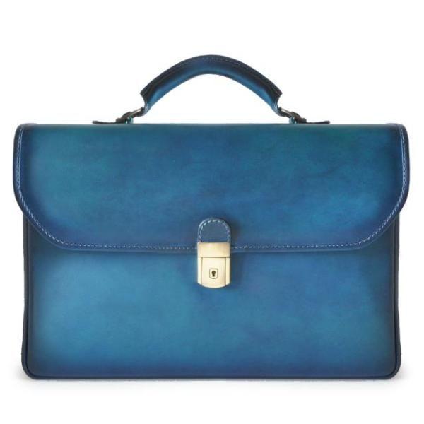 Деловая кожаная сумка pratesi piccolomini-604B-6 синяя 699,00 €