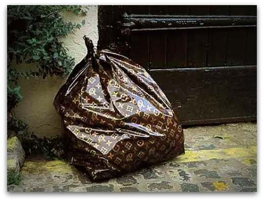 Louis Vuitton Garbage Bag - Interior Design