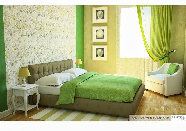 Látványterv a szobámról! - Ilyen legyen a zöld hálószoba!