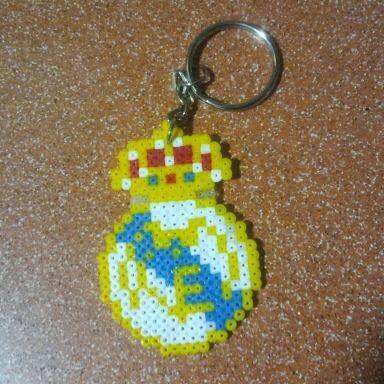 Llavero del Real Madrid en hama mini