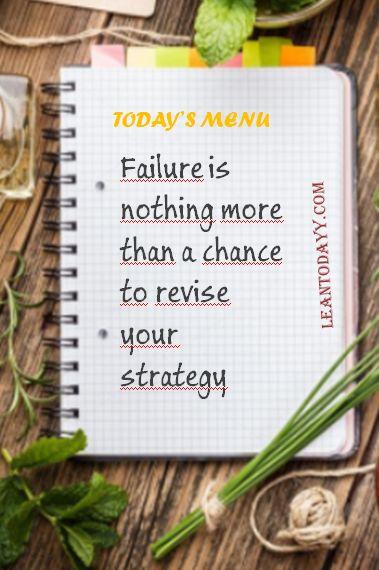 Failure is ...