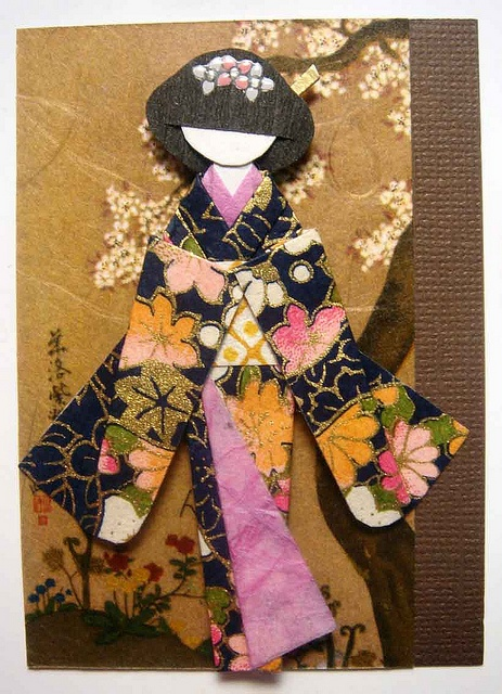 japanese paper doll ATC