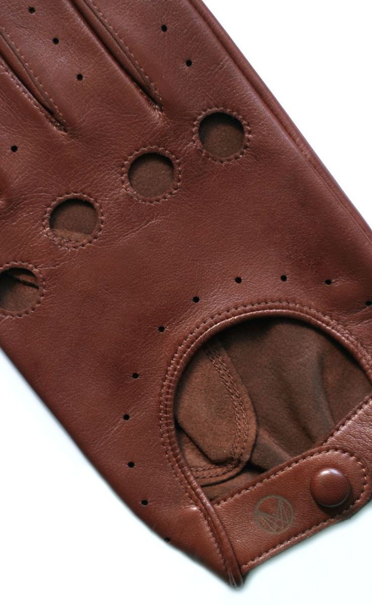 Handmade leather driving gloves - Mens Classic Leather Driving Gloves