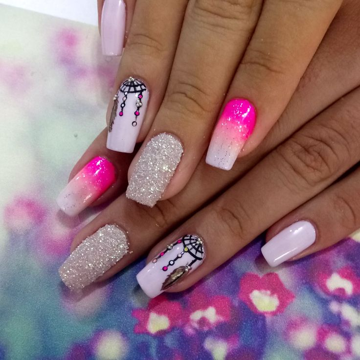 Uñas #uñasdegrade #nails nails atrapa sueños @unas_tatiana08a