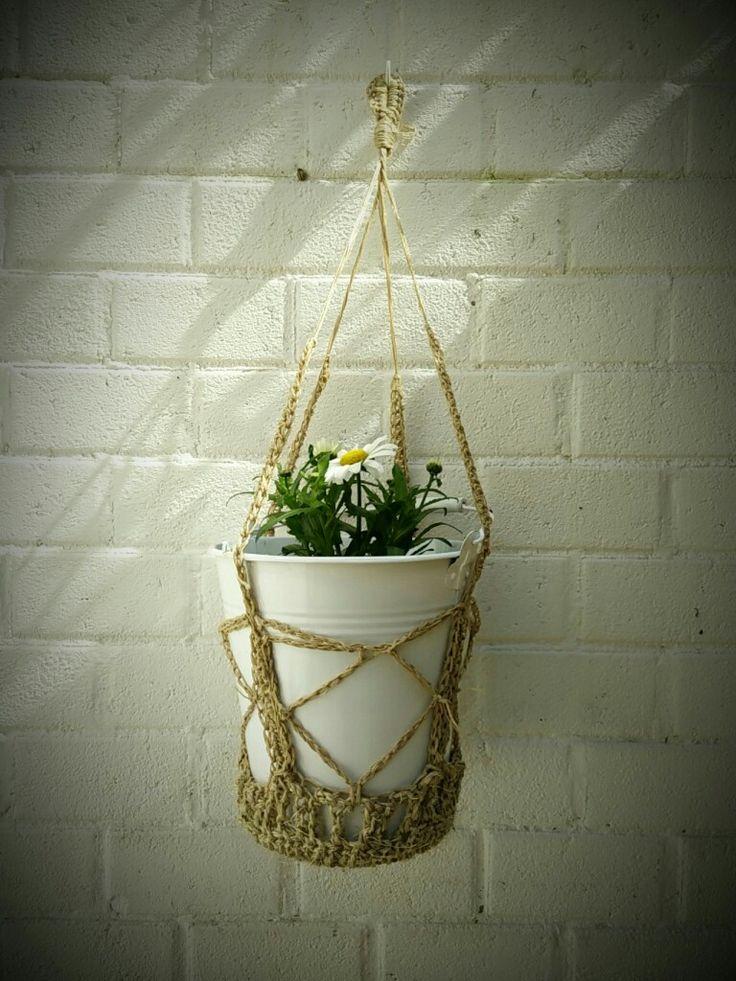 Crochet plant hanger #crochet #planthanger