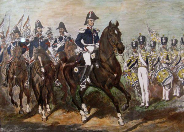 Sztab generalny wojsk polskich w czasie powstania listopadowego - Juliusz Kossak