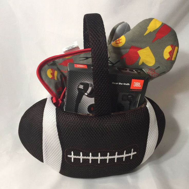 Football Gift Basket Griller J22 Headphones Coach Gift For Him    eBay