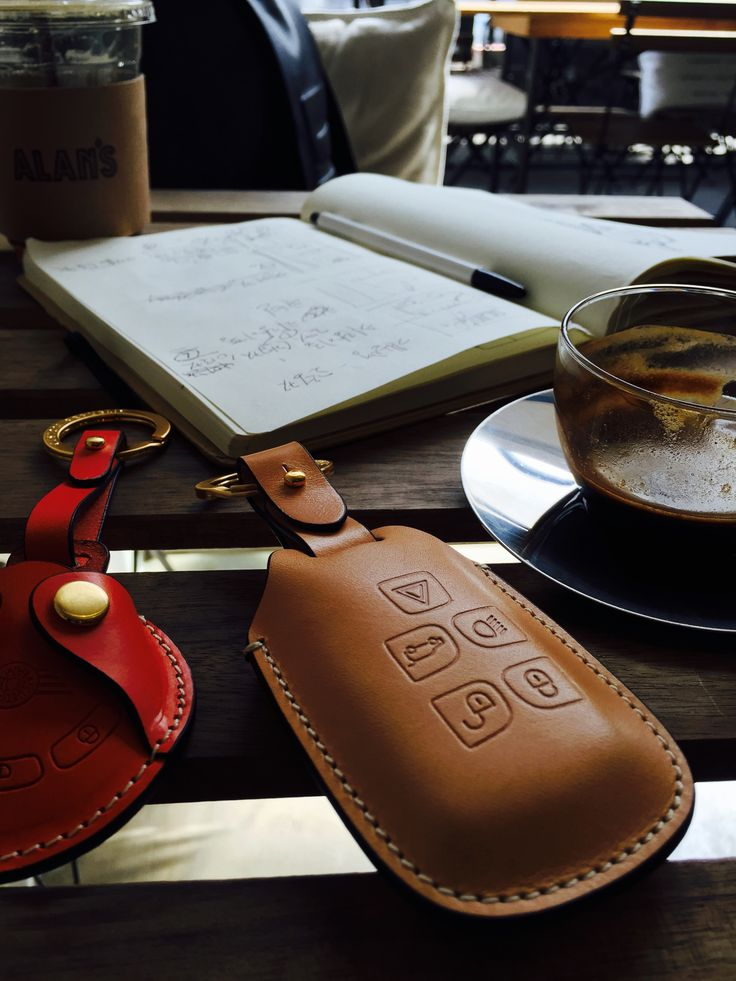 Another day of chilling and working at the cafe. Our Buttero leather key case!