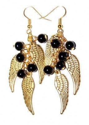 Pozłacane Kolczyki Skrzydła #earrings #kolczyki