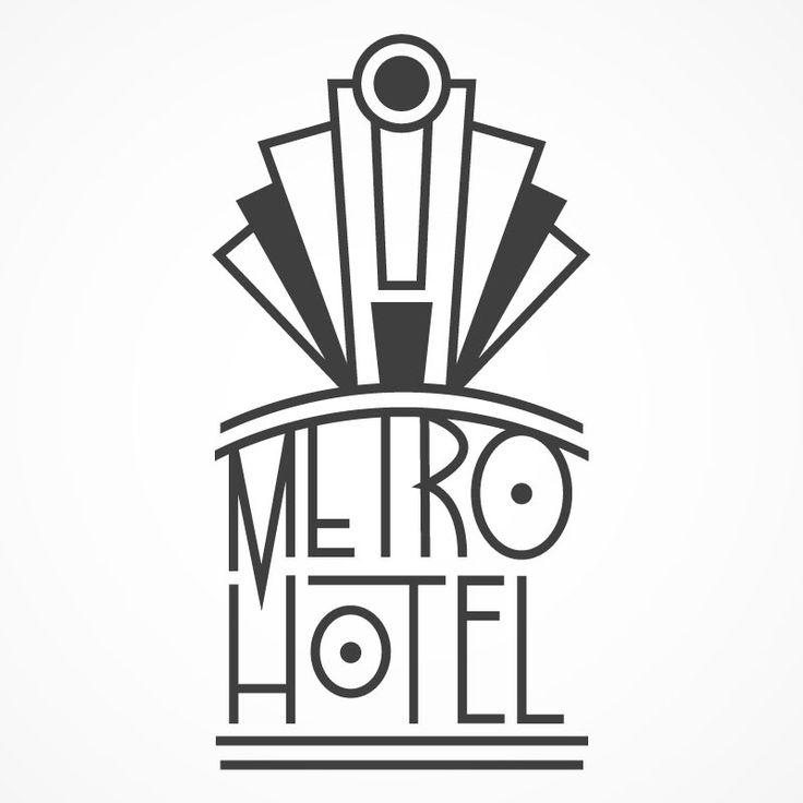 Art Deco logo concept - Graphic Design Forum: This is a simple design but this shows a major part in font they use.