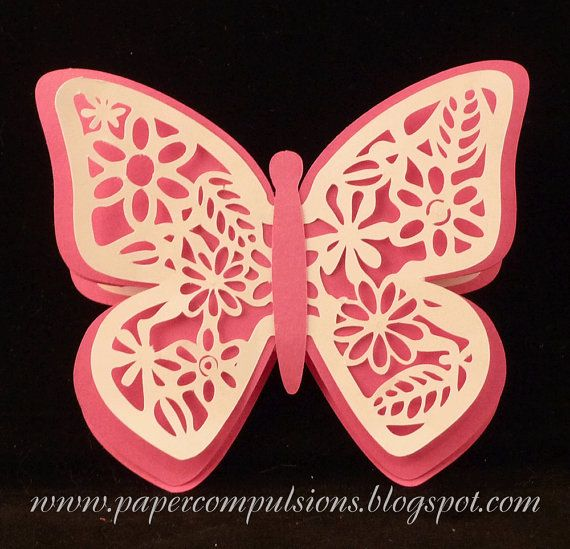 Butterfly Easel Card SVG cut files with by papercompulsions, $3.00: