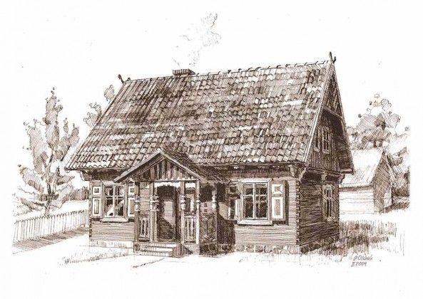 Dom drewniany - Kurtynia