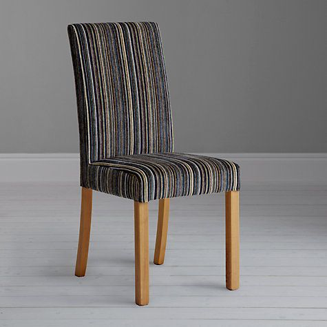 John Lewis Orly Upholstered Chair Aubergine Matisse Stripe Online At Johnlewis
