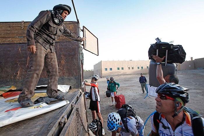 Participantes de la #TitanDesert 2012.  #carrera de #bicicletas en #Marruecos