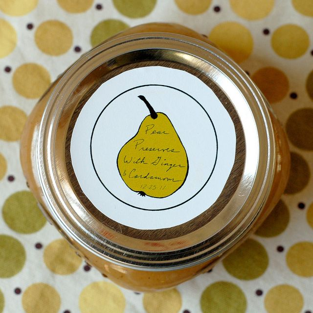 Spiced Pear Preserves- cardamom and ginger