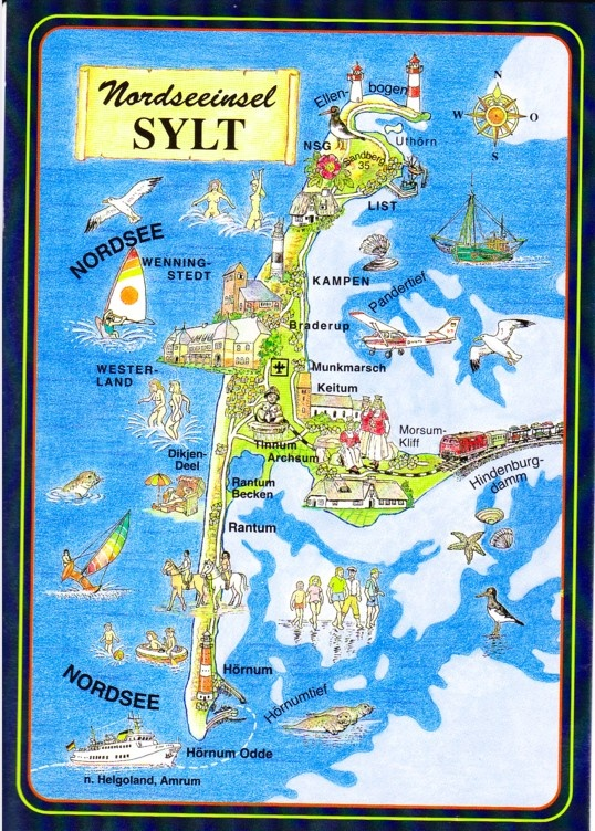 Sylt Map Card