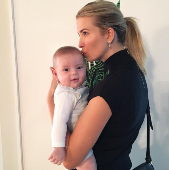 Too Cute!: Ivanka Trump's Baby Son Theodore Supports Grandpa Donald Trump After Presidential Win — See the Video!