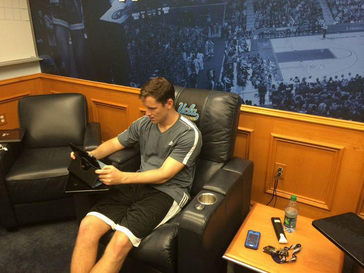UCLA Mens Basketball coach studying his opposition on #SportstecPlayer on the #IPAD